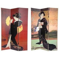 Handmade Canvas Double-sided Japanese Room Divider (China)