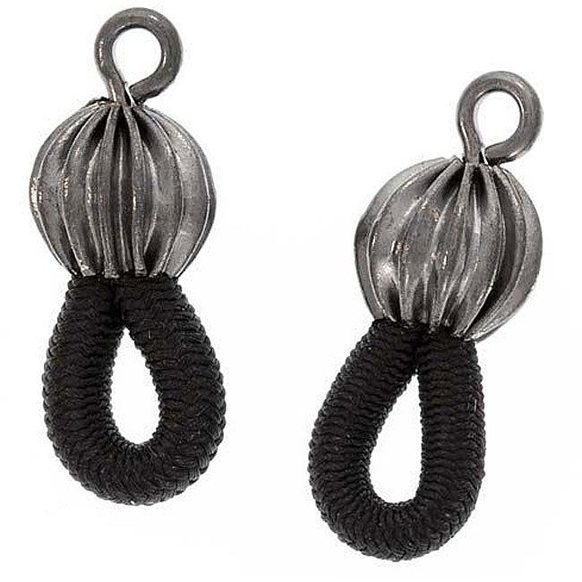 Beadaholique Gunmetal Grey Eyeglass Chain/ Holder Fancy Ends (Set of 12 Pairs)