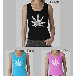 Los Angeles Pop Art Women's Leaf Tank Top