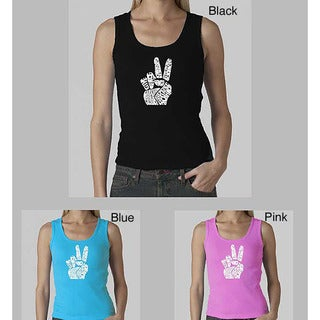 Los Angeles Pop Art Women's 'Give Peace' Tank Top