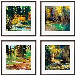 Gallery Direct Sylvia Angeli 'A Walk in the Woods II, IV, V, VII' 4-piece Art Set
