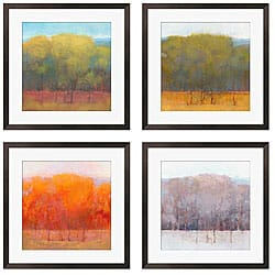 Gallery Direct Kim Coulter ' Change of Seasons I-IV' 4-piece Giclee Art Set