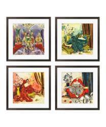 Gallery Direct Olivia Maxweller 'Ladies of Leisure Series' Giclee Art (Set of 4) - Thumbnail 1