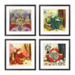 Gallery Direct Olivia Maxweller 'Ladies of Leisure Series' Giclee Art (Set of 4) - Thumbnail 2