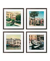 Gallery Direct Erneseto Rodriguez 'Venezia Series' Giclee Framed Artwork (Set of 4) - Thumbnail 1