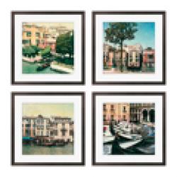 Gallery Direct Erneseto Rodriguez 'Venezia Series' Giclee Framed Artwork (Set of 4) - Thumbnail 2