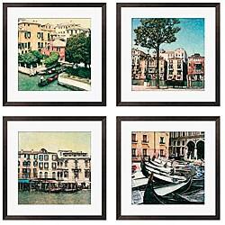 Gallery Direct Erneseto Rodriguez 'Venezia Series' Giclee Framed Artwork (Set of 4)