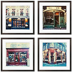 Gallery Direct Ernesto Rodriguez 'Bistro Series' Giclee Framed Artwork (Set of 4)
