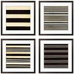 Gallery Direct Leslie Saris 'Stripe Vision I-IV' Giclee Framed Artwork (Set of 4)