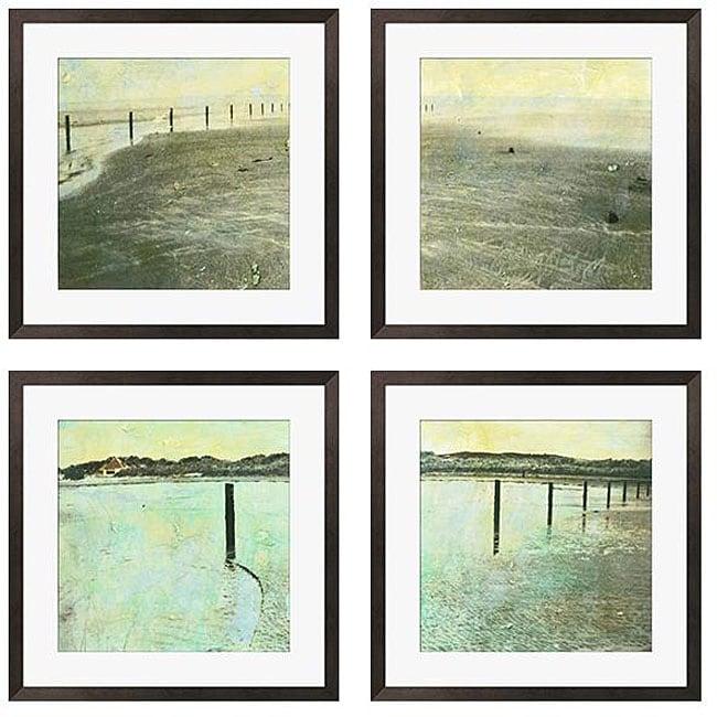 Gallery Direct Sara Abbott 'Beach Series I-IV' Giclee Framed Prints (Set of 4)