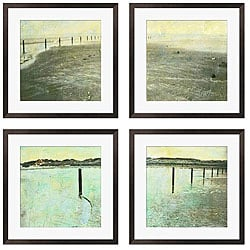 Gallery Direct Sara Abbott 'Beach Series I-IV' Giclee Framed Prints (Set of 4)