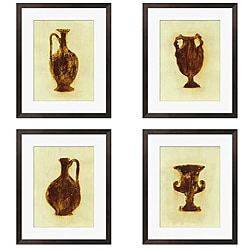 Gallery Direct Leslie Saris 'Designs in Green & Brown' 4-piece Art Set