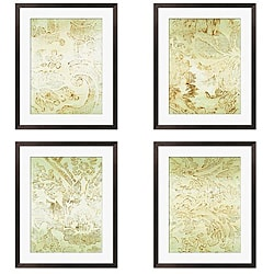 Gallery Direct Leslie Saris 'Seafoam Design' 4-piece Framed Art Set