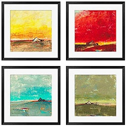 Gallery Direct Bellows 'Barn Series' 4-piece Framed Art Set