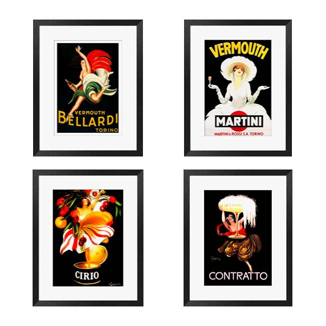 Gallery Direct Capiello 'Vintage Series I-IV' 4-piece Framed Art Set