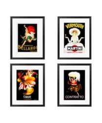 Gallery Direct Capiello 'Vintage Series I-IV' 4-piece Framed Art Set - Thumbnail 1