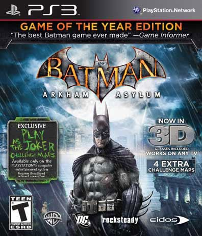 PS3 - Batman Arkham Asylum: Game of the Year Greatest Hits
