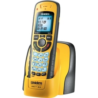 Uniden WXI3077 DECT 6.0 1.90 GHz Cordless Phone - Yellow