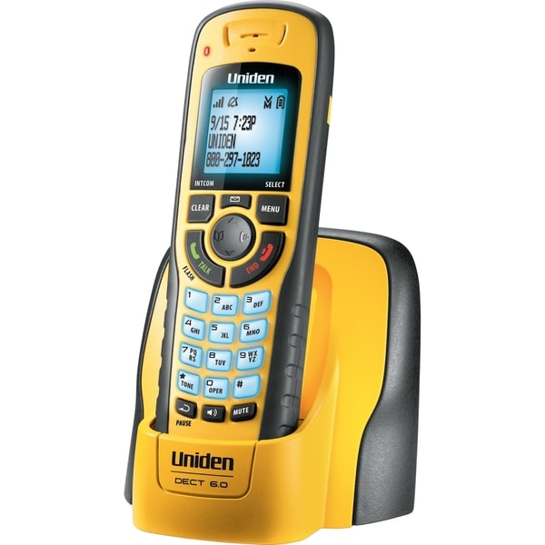 Uniden WXI3077 DECT 6.0 1.90 GHz Cordless Phone - Yellow
