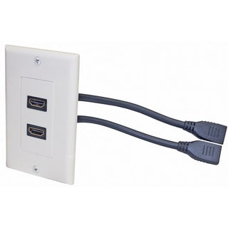 Steren 2 Socket HDMI Pigtail Faceplate