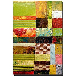 Michelle Calkins 'Abstract Color Study with Checkerboard' Art