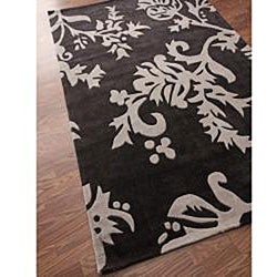nuLOOM Hand-tufted Pino Collection Floral Brown Rug (7'6 x 9'6)