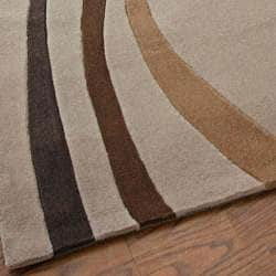 nuLOOM Hand-tufted Pino Collection Circles Beige Rug (7'6 x 9'6) - Thumbnail 2