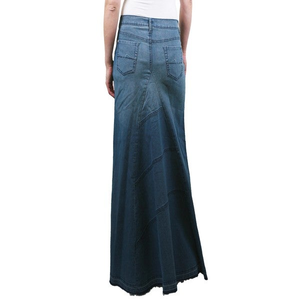 tabeez s frayed denim skirt free shipping on