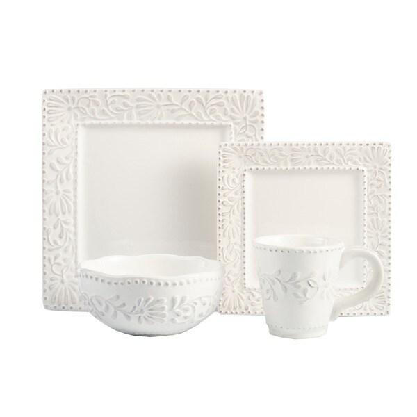American Atelier Bianca 16-piece Dinnerware Set - Free Shipping ...