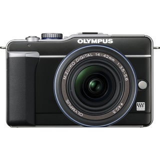Olympus PEN E-PL1 12.3 Megapixel Mirrorless Camera Body Only - Black