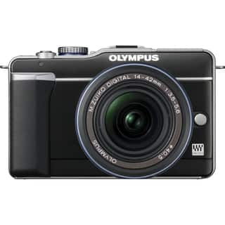 Olympus PEN E-PL1 12.3 Megapixel Mirrorless Camera Body Only - Black|https://ak1.ostkcdn.com/images/products/4755983/P12660628.jpg?impolicy=medium