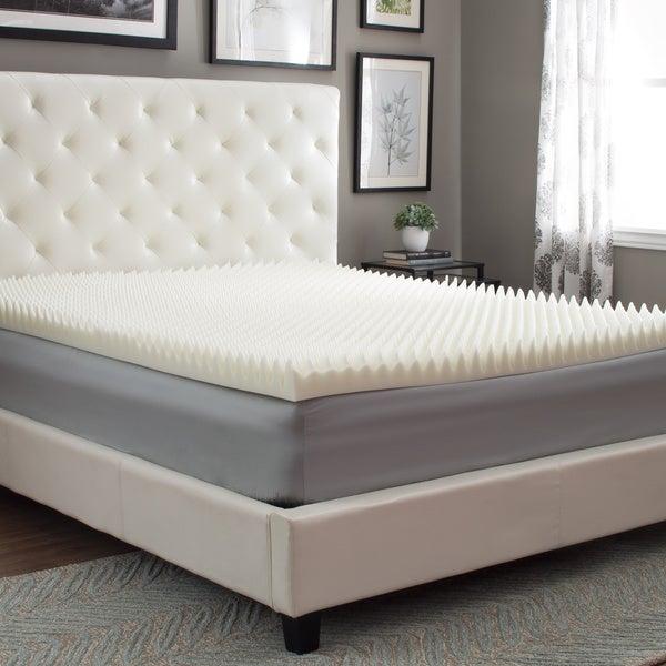 Lucid 12 Memory Foam Mattress Reviews Slumber Solutions Highloft Supreme 2-inch Memory Foam ...