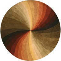 Hand-tufted Wool Contemporary Abstract Swirl Rug - 4'