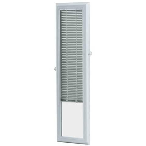 ODL Add on On Blinds -Enclosed Blinds 8x36-inch White for Sidelights - 8 x 36