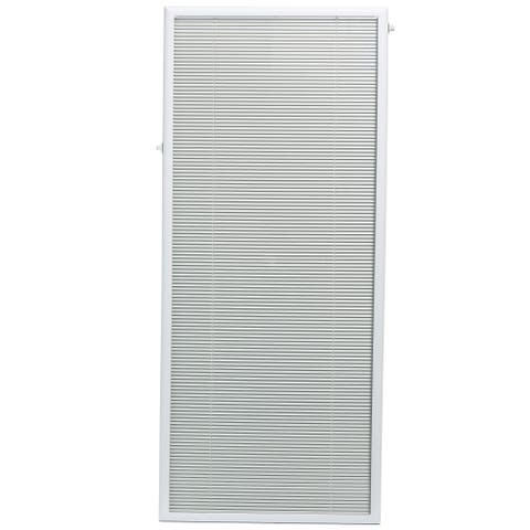 "Add On Blinds by ODL for Flush Frame Door Glass 27"" x 66"" White"