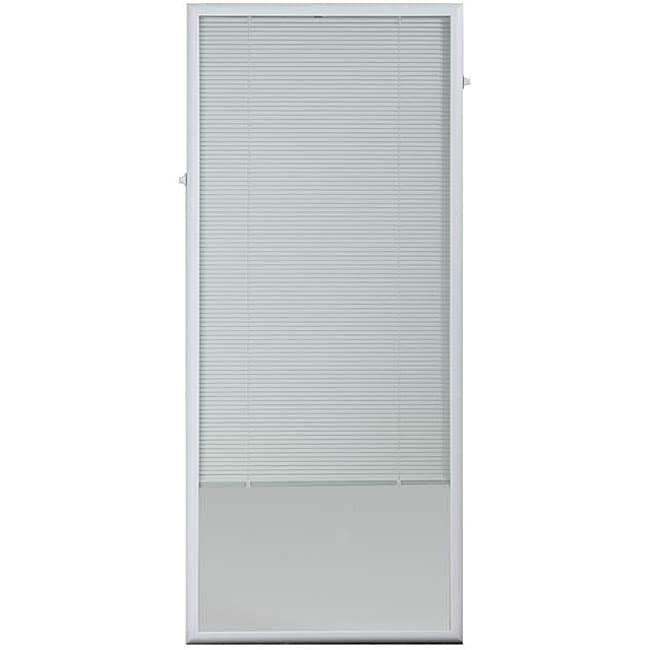 ODL White Flush Frame Enclosed Patio Door Blind (27 x 66 ...