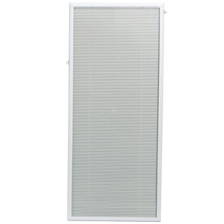 ODL White Flush Frame Enclosed Patio Door Blind (27 x 66)