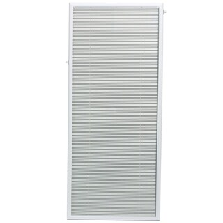 ODL White Steel Flush Frame Enclosed 27-inch x 66-inch Patio Door Blind