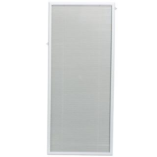 ODL White Flush Frame Enclosed Patio Door Blind (27 x 66)