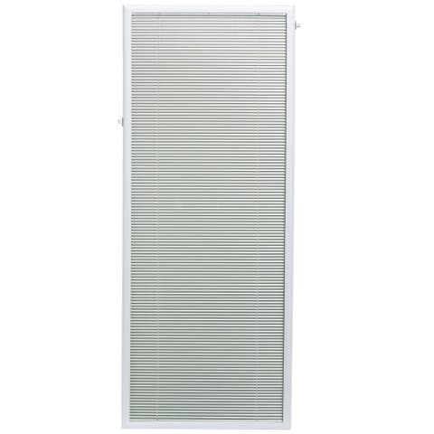 "Add On Blinds by ODL for Flush Frame Door Glass 25"" x 66"" White"