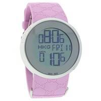 Gucci Women's YA114404 'Digital' Digital Pink Rubber Watch