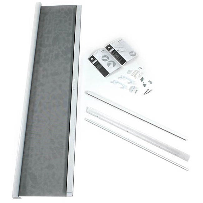 Odl 36x78 inch white retractable screen for short door for 48 inch retractable screen door