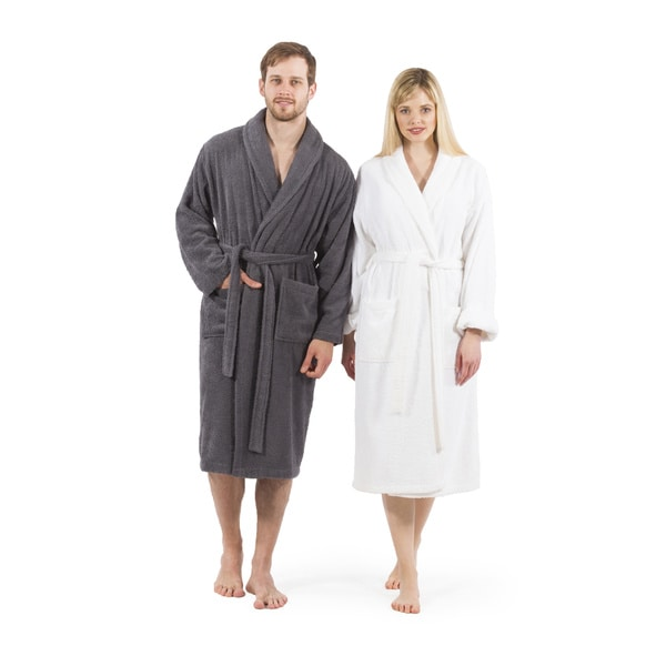 Authentic Hotel Spa Unisex Turkish Cotton Terry Cloth Bath Robe