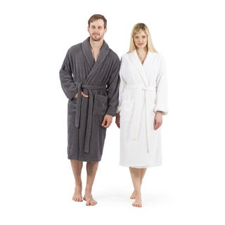 Authentic Hotel Spa Unisex Turkish Cotton Terry Cloth Bath Robe (Option: Pink)