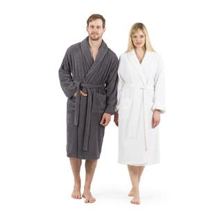 Authentic Hotel Spa Unisex Turkish Cotton Terry Cloth Bath Robe|https://ak1.ostkcdn.com/images/products/4757191/P12661633.jpg?impolicy=medium