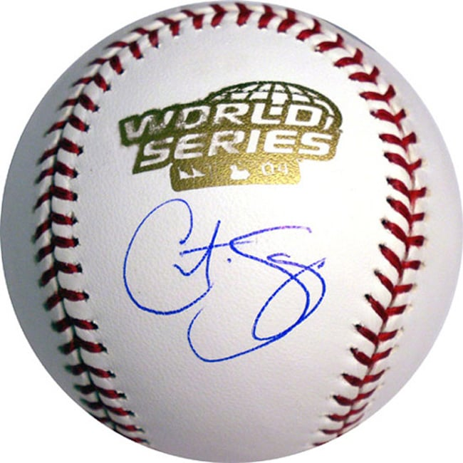 MLB Curt Schilling Hand-signed 2004 World Series Baseball