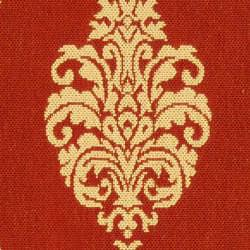 Safavieh St. Martin Damask Red/ Natural Indoor/ Outdoor Rug (2'7 x 5') - Thumbnail 2