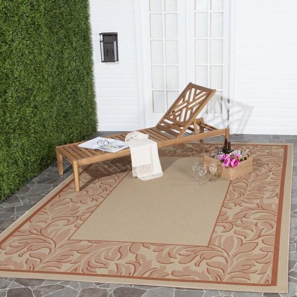 Safavieh Paradise Natural/ Terracotta Indoor/ Outdoor Rug (5'3 x 7'7) - 5'3 x 7'7