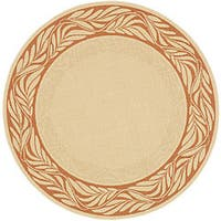 Safavieh Tranquil Poolside Natural/ Terracotta Indoor/ Outdoor Rug (5'3 Round)