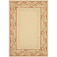 Safavieh Tranquil Poolside Natural/ Terracotta Indoor/ Outdoor Rug - 5'3 x 7'7